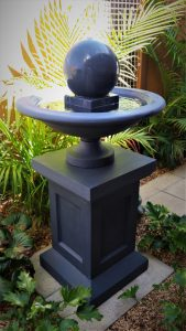 Fountain Urn in charcoal