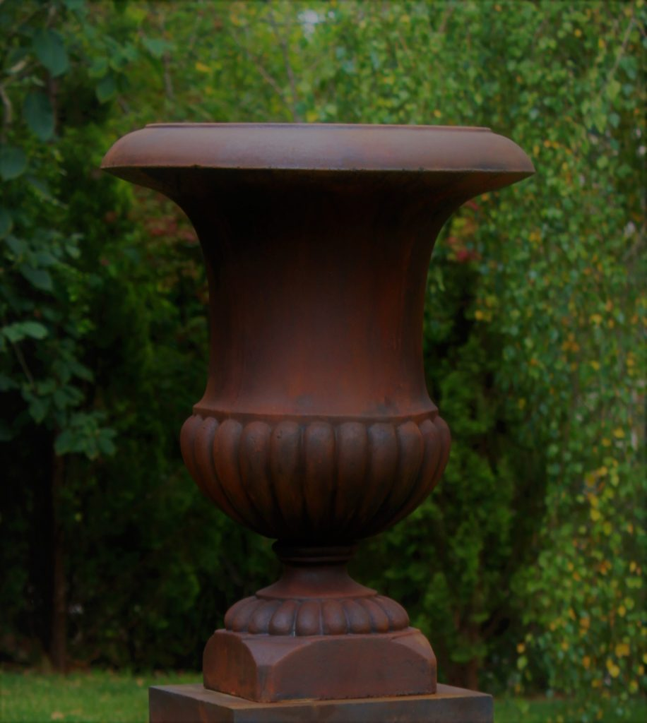 Bell Urn - Rust 560mm wide x 760mm high