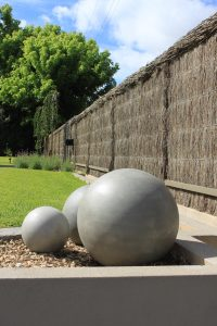 stone spheres garden balls
