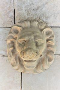 Lion Face 250mm wide x 280mm high