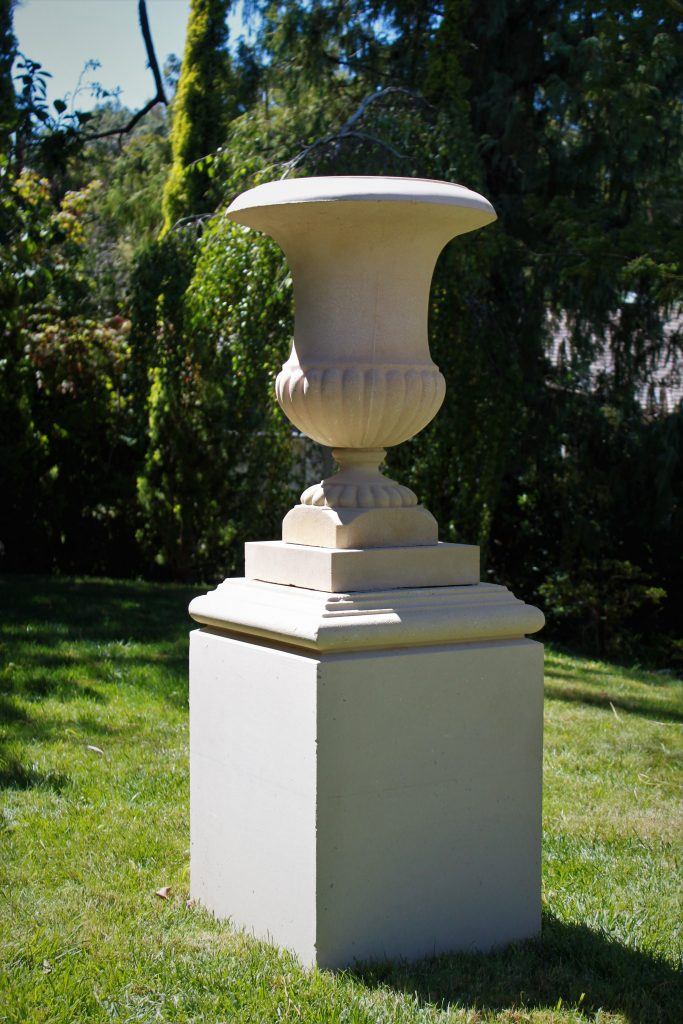 Bell Urn on 5 Series Howard Pedestal Pedestal:  520mm wide x 720mm high