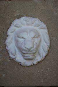 Stone lion head